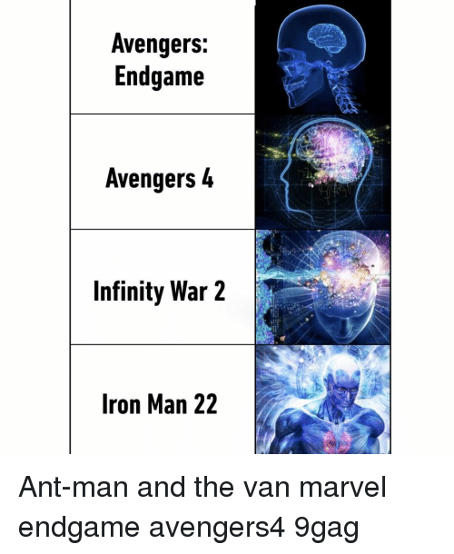9gag, Iron Man, and Memes: Avengers:  Endgame  Avengers 4  Infinity War 2  Iron Man 22 Ant-man and the van⠀ marvel endgame avengers4 9gag