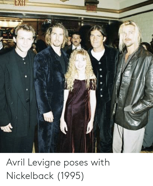 Nickelback: Avril Levigne poses with Nickelback (1995)