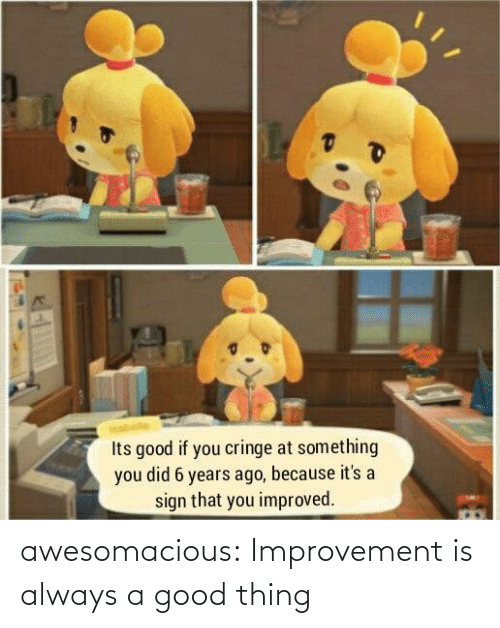 A Good: awesomacious:  Improvement is always a good thing