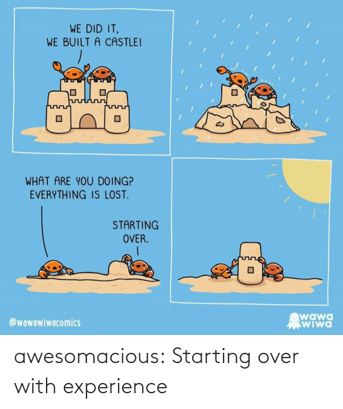 starting: awesomacious:  Starting over with experience