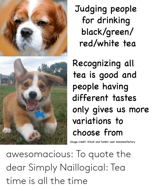 the time: awesomacious:  To quote the dear Simply Naillogical: Tea time is all the time