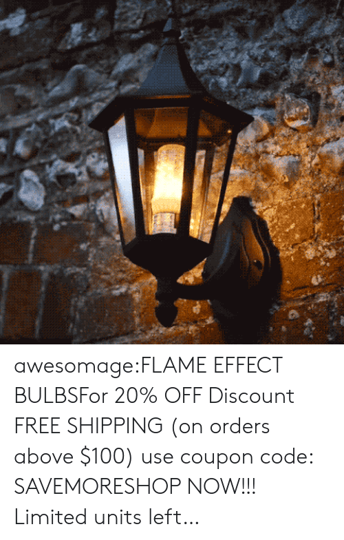 Anaconda, Fire, and Tumblr: awesomage:FLAME EFFECT BULBSFor 20% OFF Discount  FREE SHIPPING (on orders above $100) use coupon code: SAVEMORESHOP NOW!!! Limited units left…