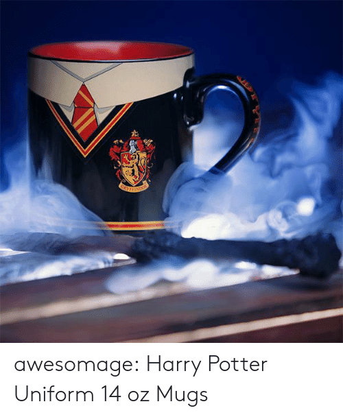 Harry Potter, Tumblr, and Blog: awesomage:  Harry Potter Uniform 14 oz Mugs