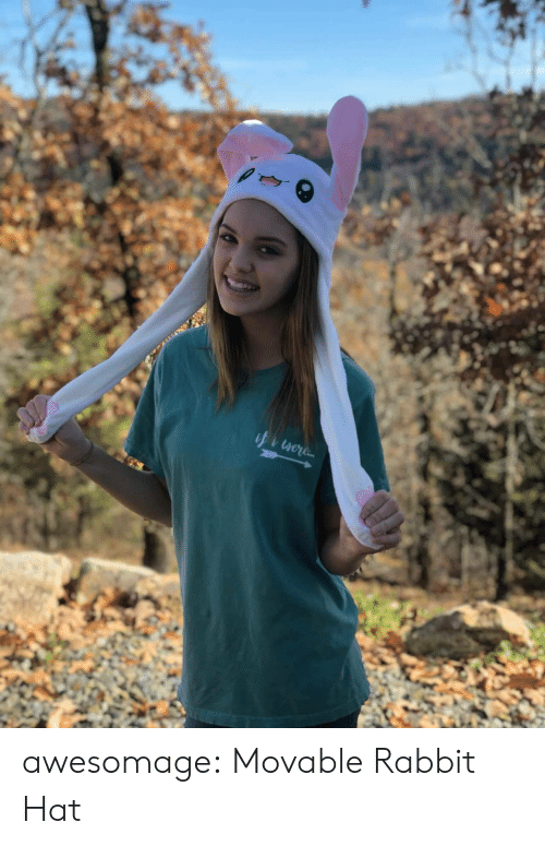 Tumblr, Blog, and Rabbit: awesomage:    Movable Rabbit Hat