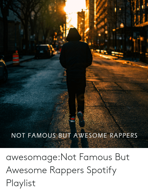 open: awesomage:Not Famous But Awesome Rappers Spotify Playlist