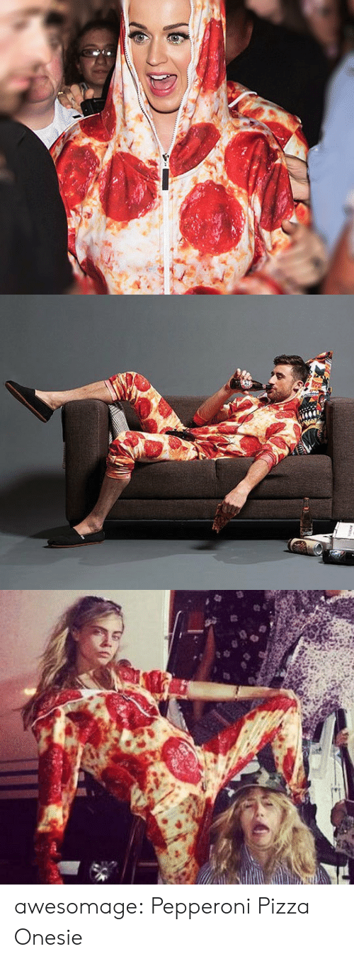 Pizza, Tumblr, and Blog: awesomage:  Pepperoni Pizza Onesie