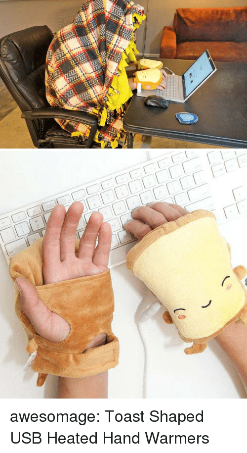 Tumblr, Blog, and Toast: awesomage:  Toast Shaped USB Heated Hand Warmers