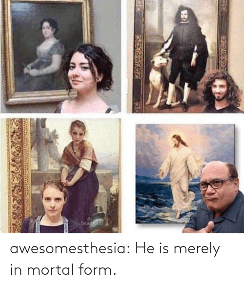 Form: awesomesthesia:  He is merely in mortal form.