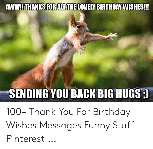 25 Best Memes About Thank You For Birthday Wishes Thank You