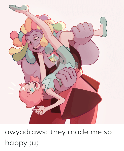 Tumblr, Blog, and Happy: awyadraws:  they made me so happy ;u;