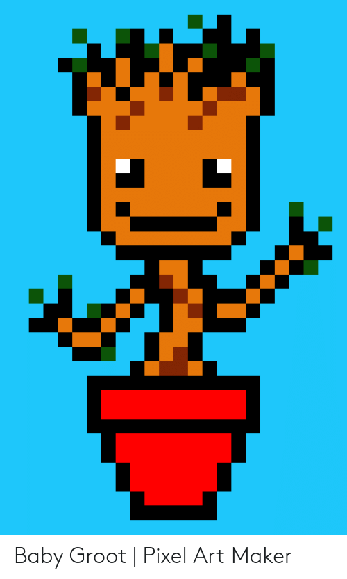 Baby Groot Pixel Art Maker Baby Meme On Conservative Memes