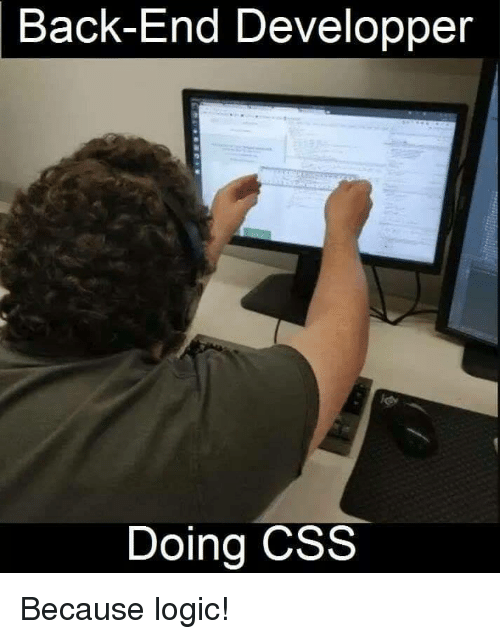 Logic, Back, and Css: Back-End Developper  Doing CSS Because logic!