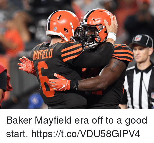 Memes, Good, and 🤖: Baker Mayfield era off to a good start. https://t.co/VDU58GIPV4