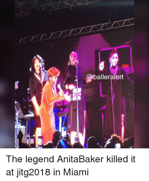 Memes, 🤖, and Miami: balleralert The legend AnitaBaker killed it at jitg2018 in Miami