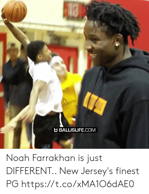 Memes, Noah, and 🤖: BALLISLIFE.COM Noah Farrakhan is just DIFFERENT.. New Jersey's finest PG https://t.co/xMA1O6dAE0