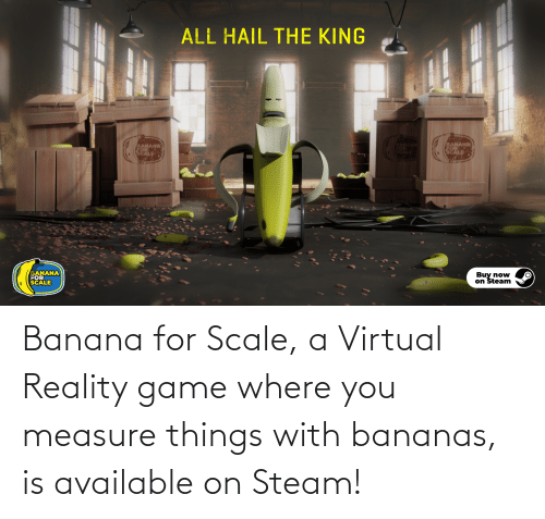 Virtual Reality: Banana for Scale, a Virtual Reality game where you measure things with bananas, is available on Steam!