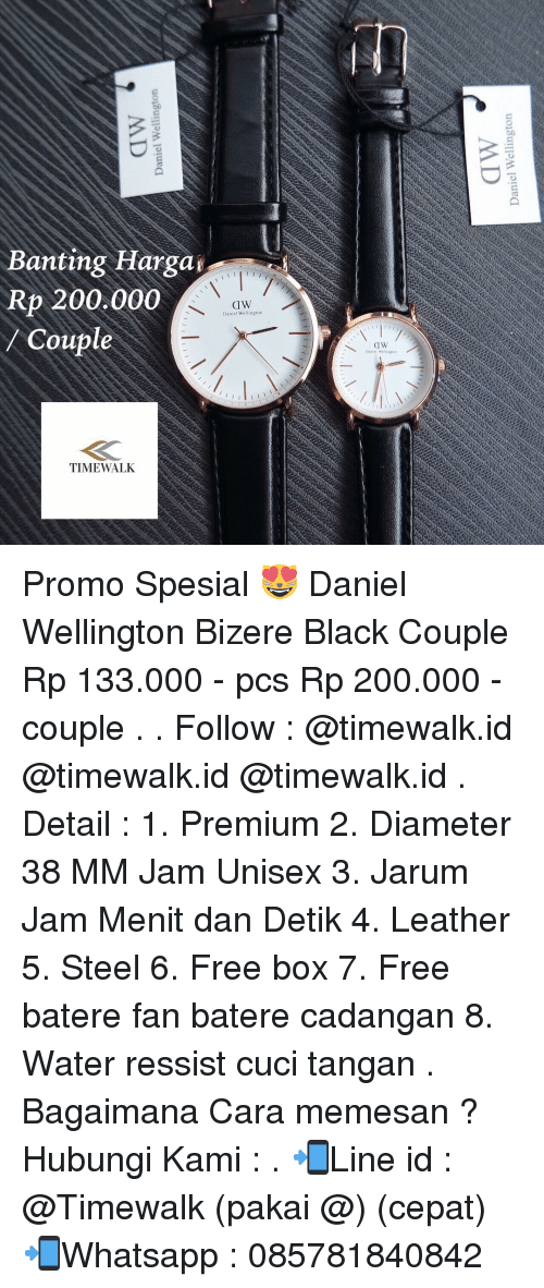 Memes, 🤖, and Steel: Banting Hargag Rp 200.000 CIW Daniel Wellington Coupl TIME