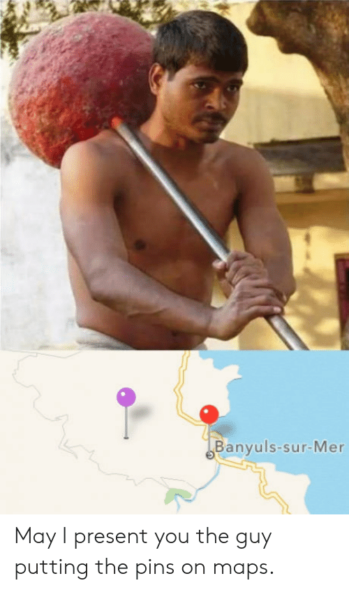 Maps, May, and You: Banyuls-sur-Mer May I present you the guy putting the pins on maps.