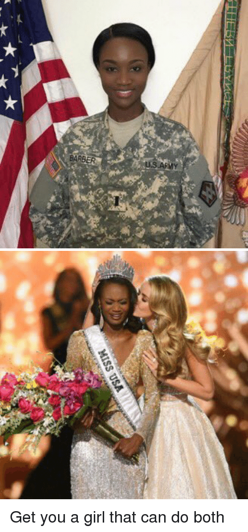 miss usa: BARBER   MISS USA Get you a girl that can do both