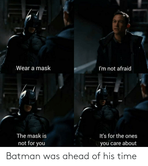 Of His: Batman was ahead of his time
