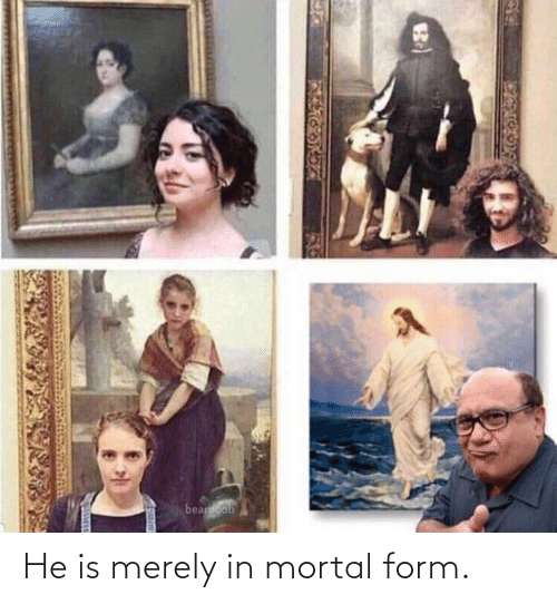 Form: beaoob He is merely in mortal form.