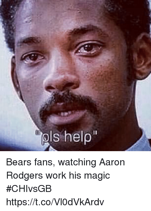 Aaron Rodgers, Sports, and Work: Bears fans, watching Aaron Rodgers work his magic #CHIvsGB https://t.co/Vl0dVkArdv