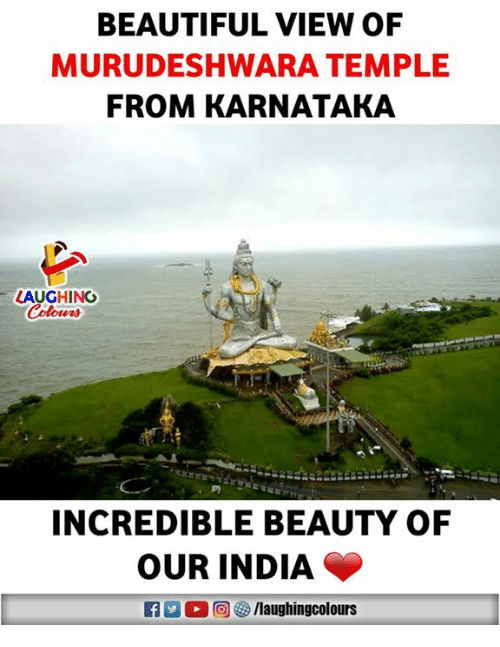 Beautiful, India, and Indianpeoplefacebook: BEAUTIFUL VIEW OF  MURUDESHWARA TEMPLE  FROM KARNATAKA  LAUGHING  INCREDIBLE BEAUTY OF  OUR INDIA