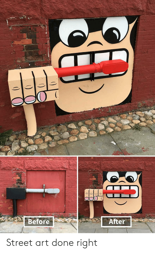before after: Before  After Street art done right