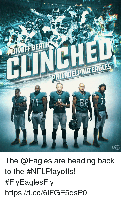 Philadelphia Eagles: BERT  CLINCH  PHILADELPHIA EAGLES  07  NFL The @Eagles are heading back to the #NFLPlayoffs! #FlyEaglesFly https://t.co/6iFGE5dsP0