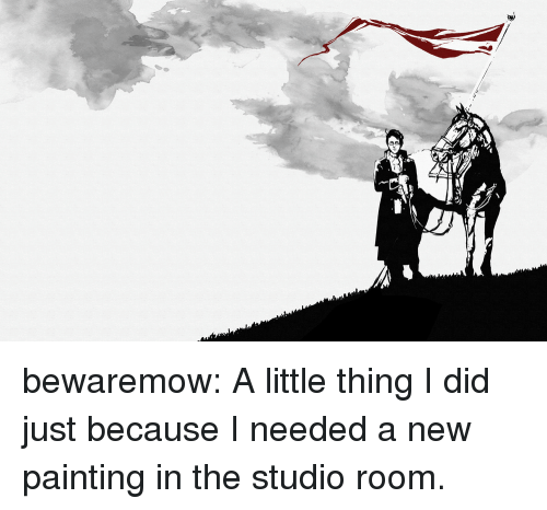 Target, Tumblr, and Blog: bewaremow:  A little thing I did just because I needed a new painting in the studio room.