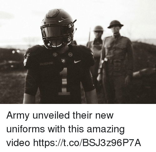 Army, Video, and Amazing: BIG RED ONE Army unveiled their new uniforms with this amazing video https://t.co/BSJ3z96P7A
