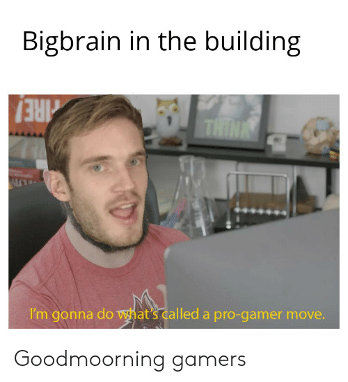 Goodmoorning: Bigbrain in the building  THINK  RE!  I'm gonna do what's called a pro-gamer move. Goodmoorning gamers