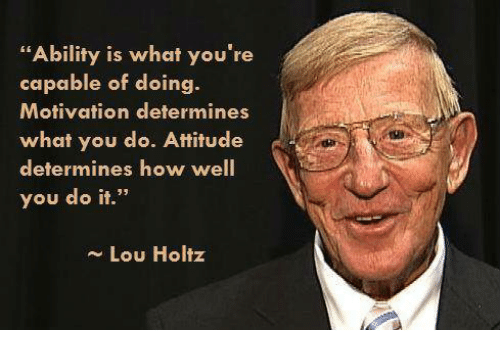 a review of the lou holtz self motivation video