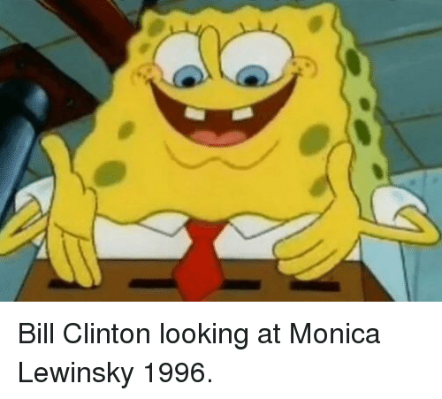 Bill Clinton, Monica Lewinsky, and Looking: Bill Clinton looking at Monica Lewinsky 1996.