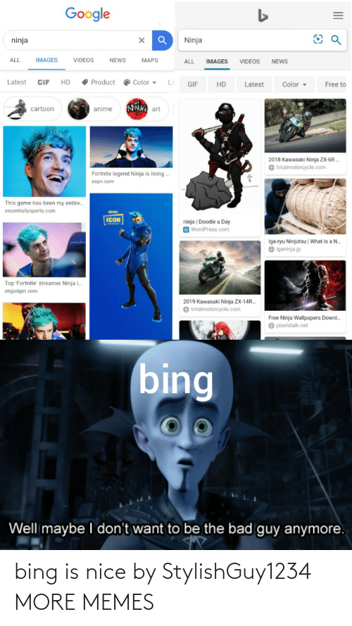 Bing: bing is nice by StylishGuy1234 MORE MEMES