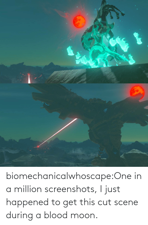 Cut: biomechanicalwhoscape:One in a million screenshots, I just happened to get this cut scene during a blood moon.