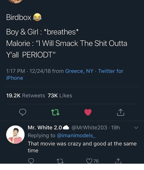 Birdbox Boy & Girl *Breathes* Malorie I Will Smack the Shit Outta Y