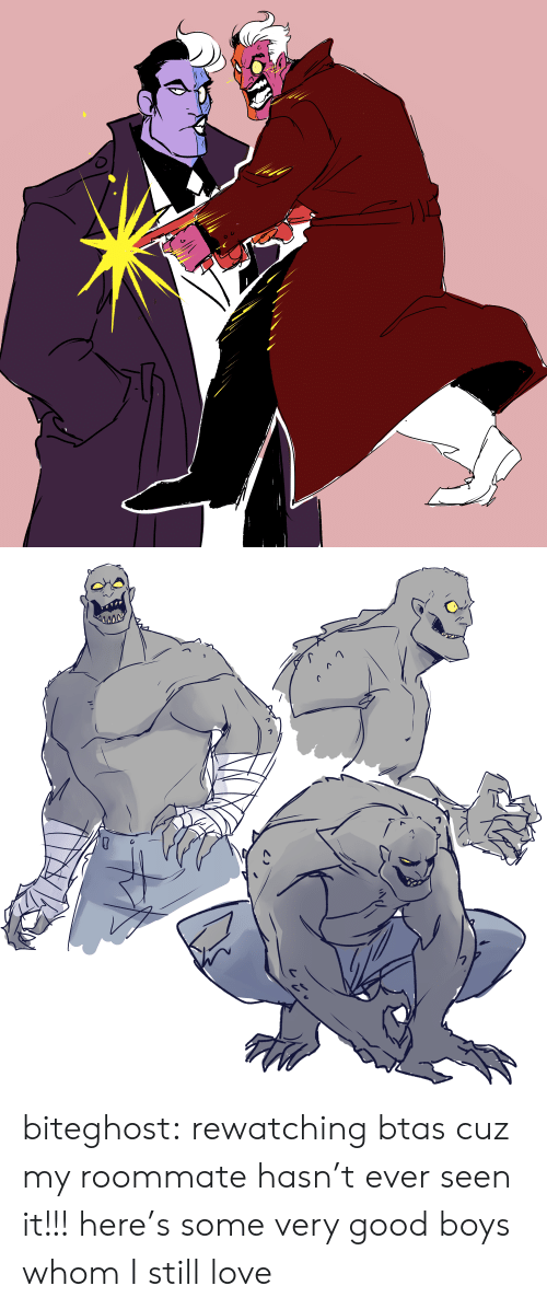 Love, Roommate, and Tumblr: biteghost:  rewatching btas cuz my roommate hasn't ever seen it!!! here's some very good boys whom I still love