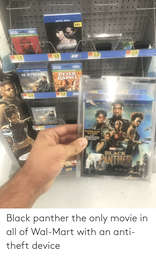 Black Panther: Black panther the only movie in all of Wal-Mart with an anti-theft device