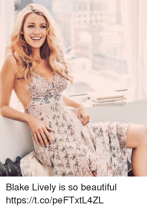 Beautiful, Memes, and Blake Lively: Blake Lively is so beautiful https://t.co/peFTxtL4ZL