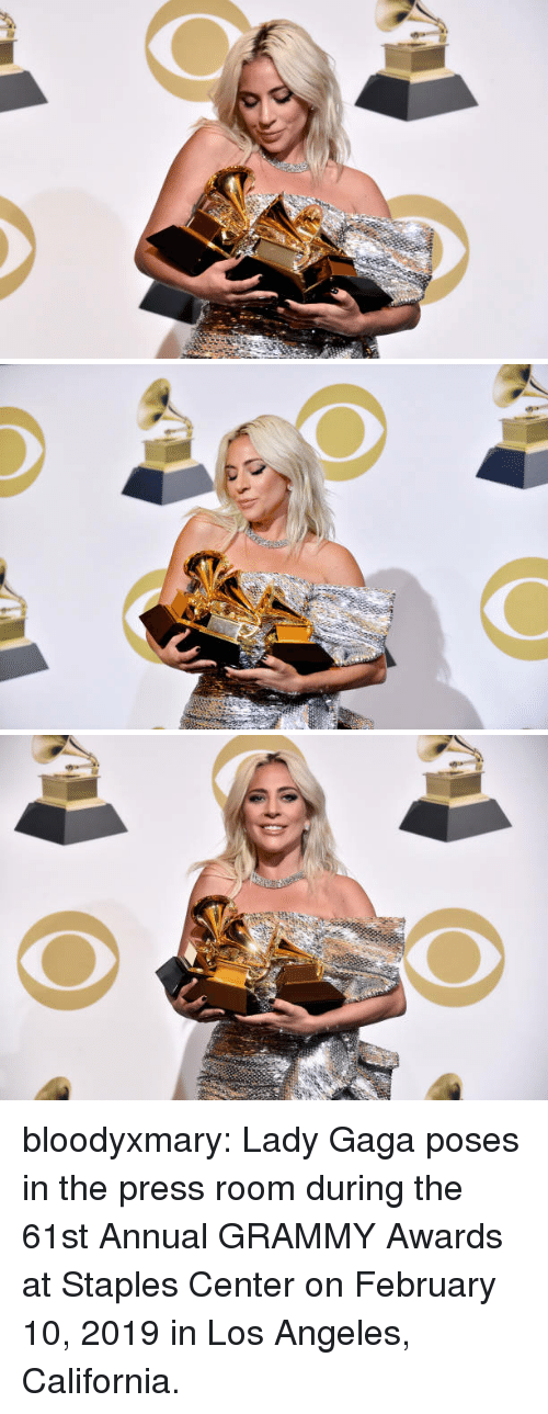 Lady Gaga: bloodyxmary:  Lady Gaga poses in the press room during the 61st Annual GRAMMY Awards at Staples Center on February 10, 2019 in Los Angeles, California.