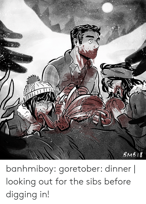 Tumblr, Blog, and Http: BMB18 banhmiboy:  goretober: dinner | looking out for the sibs before digging in!