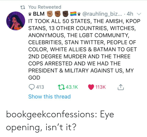 Isnt: bookgeekconfessions:  Eye opening, isn't it?