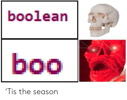 Boo, Tis the Season, and Boolean: boolean  boo 'Tis the season