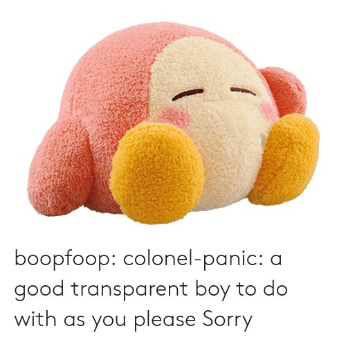 Sorry, Tumblr, and Blog: boopfoop: colonel-panic:  a good transparent boy to do with as you please  Sorry
