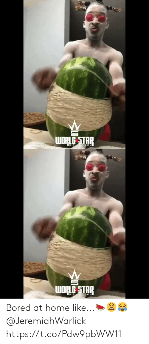 Home: Bored at home like...🍉😩😂 @JeremiahWarlick https://t.co/Pdw9pbWW11