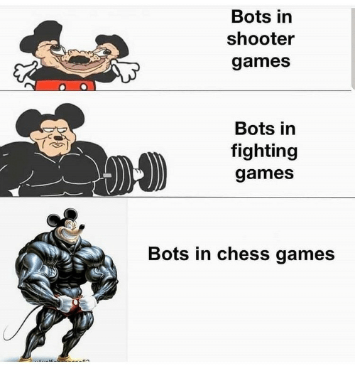 shooter: Bots in  shooter  games  Bots in  fighting  games  Bots in chess games