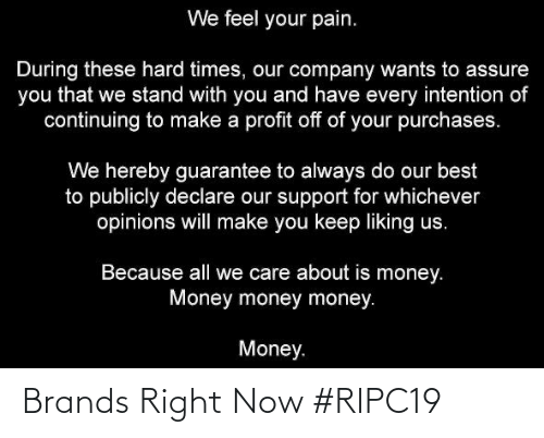 right now: Brands Right Now #RIPC19