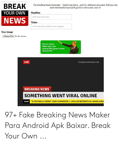 🦅 25+ Best Memes About Breaking News Maker | Breaking News