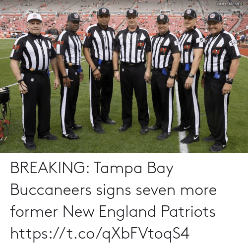 England: BREAKING: Tampa Bay Buccaneers signs seven more former New England Patriots https://t.co/qXbFVtoqS4
